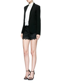 alice + olivia 'Amaris' corded floral lace shorts