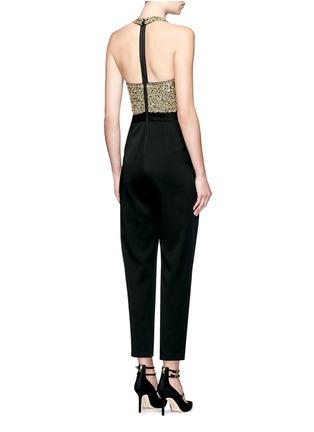 Back View - Click To Enlarge - alice + olivia - 'Jeri' sequin embellished T-back jumpsuit
