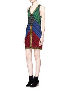 alice + olivia'Nadia' embellished A-line dress