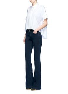 alice + olivia'Edyth' high-low hem poplin shirt