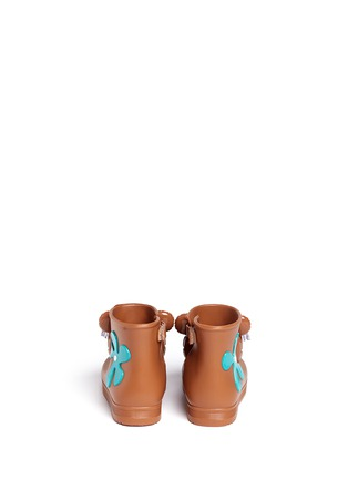 Back View - Click To Enlarge - Melissa - x Jeremy Scott 'Monkey' inflation appliqué toddler boots