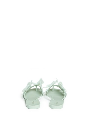Back View - Click To Enlarge - Melissa - 'Harmonic Garden VI' floral appliqué flip flops