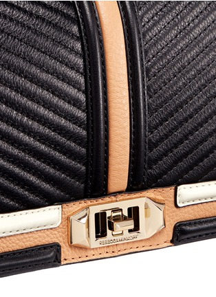 Detail View - Click To Enlarge - Rebecca Minkoff - Love' colourblock quilted leather creossbody bag