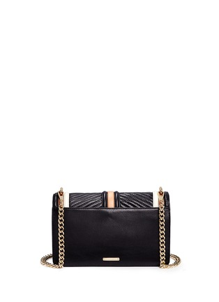 Back View - Click To Enlarge - Rebecca Minkoff - Love' colourblock quilted leather creossbody bag