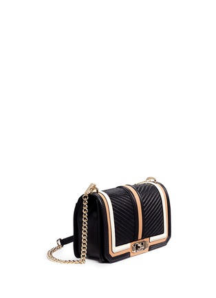Front View - Click To Enlarge - Rebecca Minkoff - Love' colourblock quilted leather creossbody bag