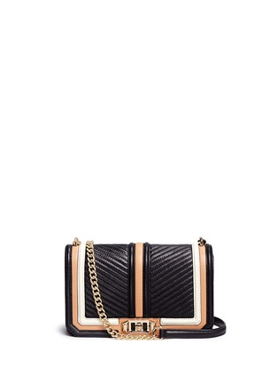 Main View - Click To Enlarge - Rebecca Minkoff - Love' colourblock quilted leather creossbody bag