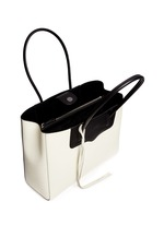 'Penelope' bicolour saffiano leather tote