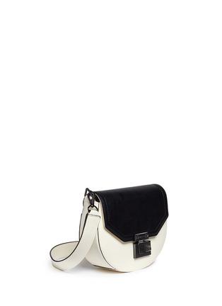 Front View - Click To Enlarge - Rebecca Minkoff - 'Paris' medium colourblock saddle bag
