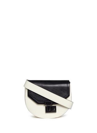 Main View - Click To Enlarge - Rebecca Minkoff - 'Paris' medium colourblock saddle bag