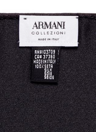Armani Collezioni-Silk satin pocket square