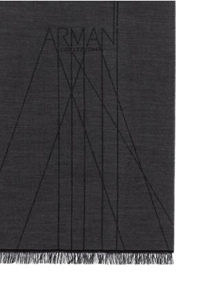 Armani Collezioni-Logo wool scarf