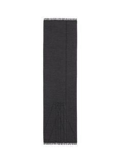 Armani CollezioniLogo wool scarf