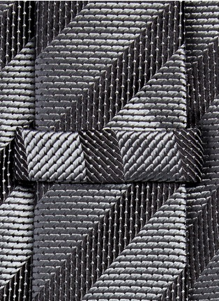 Detail View - Click To Enlarge - Armani Collezioni - Stripe repp tie