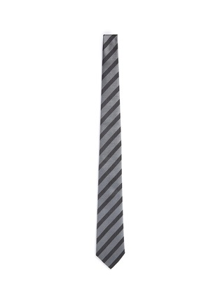 Main View - Click To Enlarge - Armani Collezioni - Stripe repp tie