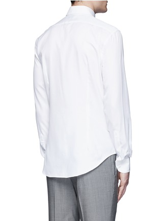 Back View - Click To Enlarge - Armani Collezioni - Slim fit cotton-silk tuxedo shirt