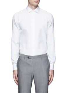 Armani CollezioniSlim fit cotton-silk tuxedo shirt