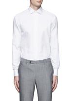Slim fit cotton-silk tuxedo shirt