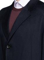 Cashmere flannel coat