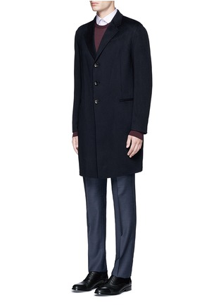 Front View - Click To Enlarge - Armani Collezioni - Cashmere flannel coat