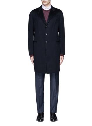 Main View - Click To Enlarge - Armani Collezioni - Cashmere flannel coat