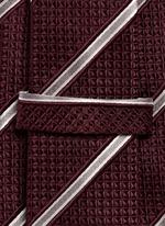 Regimental stripe diamond jacquard tie