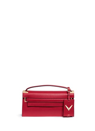 Main View - Click To Enlarge - Valentino - 'My Rockstud' pebbled leather clutch bag