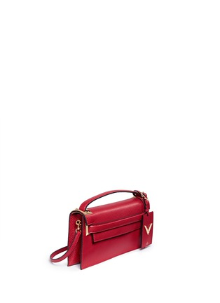 Figure View - Click To Enlarge - Valentino - 'My Rockstud' pebbled leather clutch bag