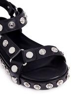 'Aiden' snap stud leather platform sandals