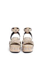 'Sandrah' snap stud suede platform sandals