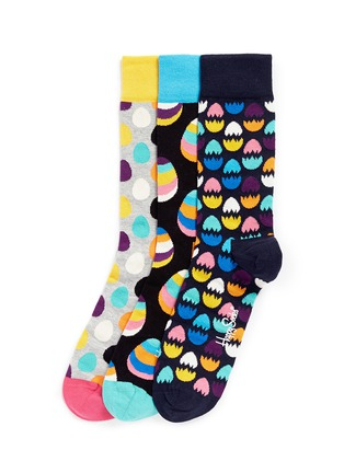 Main View - Click To Enlarge - Happy Socks - Easter egg socks 3-pair pack