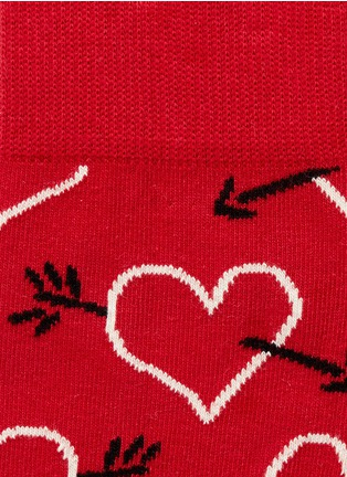 Detail View - Click To Enlarge - Happy Socks - Arrows and hearts socks