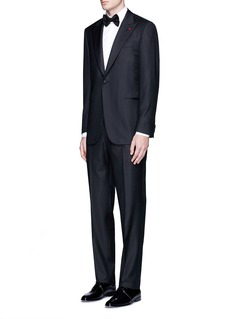 ISAIA 'Gregory' aquaspider wool tuxedo suit
