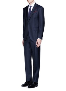 ISAIA'Gregory' aquaspider wool suit
