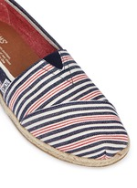Classic stripe canvas slip-on