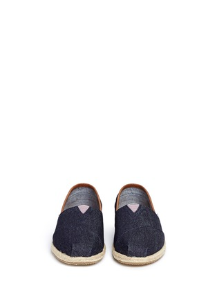 Front View - Click To Enlarge -  - Classic denim espadrille slip-ons
