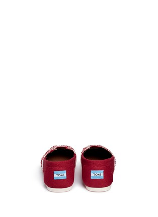 TOMS - Classic embroidered canvas slip-ons