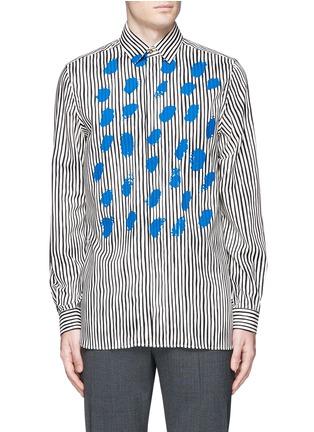 Paul Smith-Paint print stripe cotton-modal-cashmere shirt