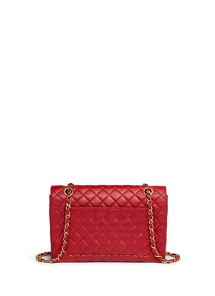 Back View - Click To Enlarge - Vintage Chanel - Quilted leather CC lock flap bag
