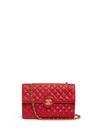 Main View - Click To Enlarge - Vintage Chanel - Quilted leather CC lock flap bag