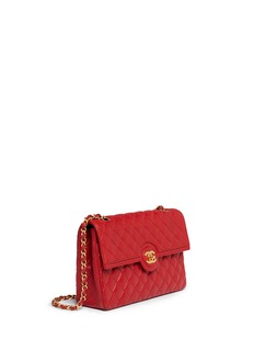 Vintage Chanel Quilted leather CC lock flap bag