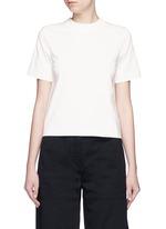 Open back cotton T-shirt