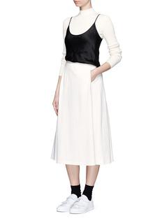 T BY ALEXANDER WANGCotton jersey skirt
