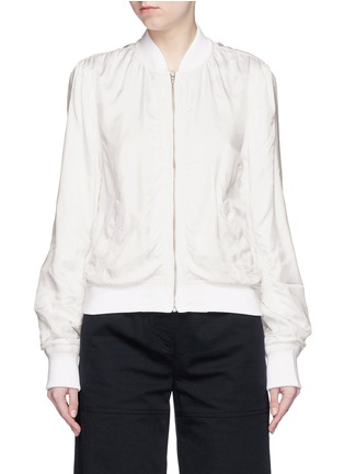 T By Alexander Wang - Fluid twill bomber jacket