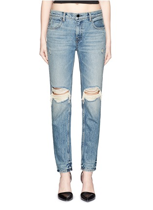 Detail View - Click To Enlarge - T By Alexander Wang - 'Wang 002' destroyed relax fit jeans