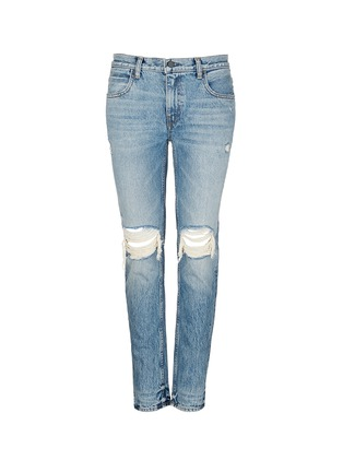 Main View - Click To Enlarge - T By Alexander Wang - 'Wang 002' destroyed relax fit jeans