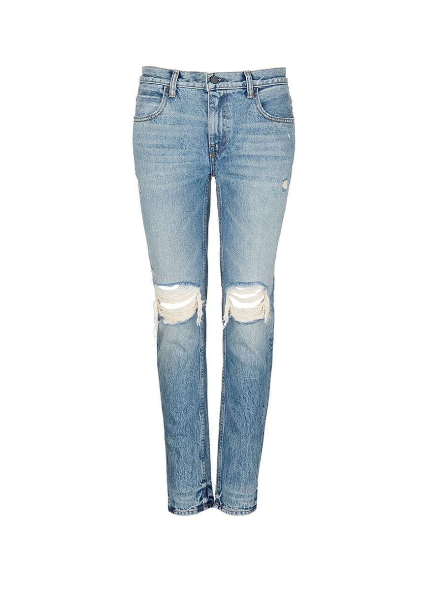 alexander wang female 201920 wang 002 destroyed relax fit jeans