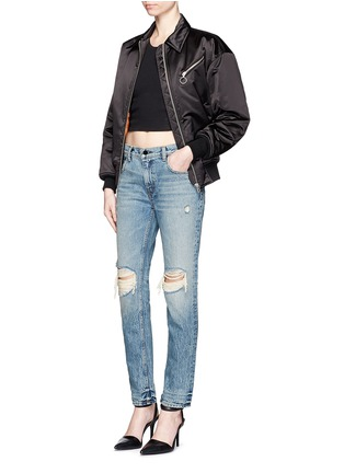Figure View - Click To Enlarge - T By Alexander Wang - 'Wang 002' destroyed relax fit jeans