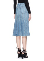 Seamed A-line denim skirt