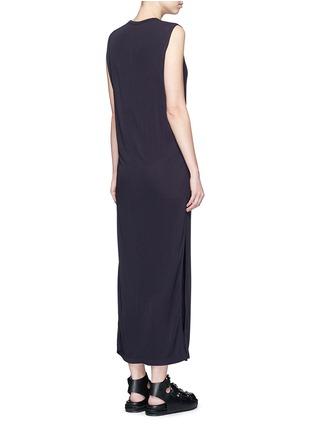 背面 - 点击放大 - T BY ALEXANDER WANG - 高衩弹性无袖连衣裙