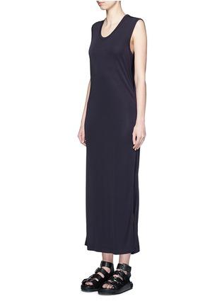 正面 -点击放大 - T BY ALEXANDER WANG - 高衩弹性无袖连衣裙